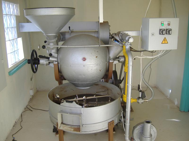 our cocoa roaster